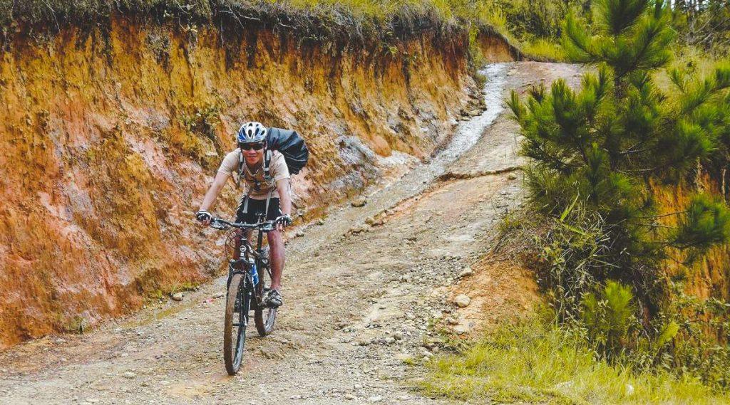 Crazy 8 mountainbiken in Dalat