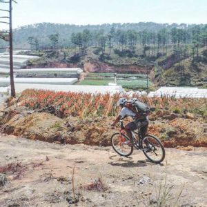 Crazy 8 mountainbiken in Dalat