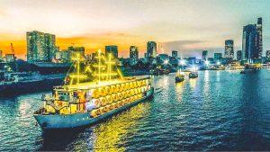 Diner cruise over de Saigon rivier