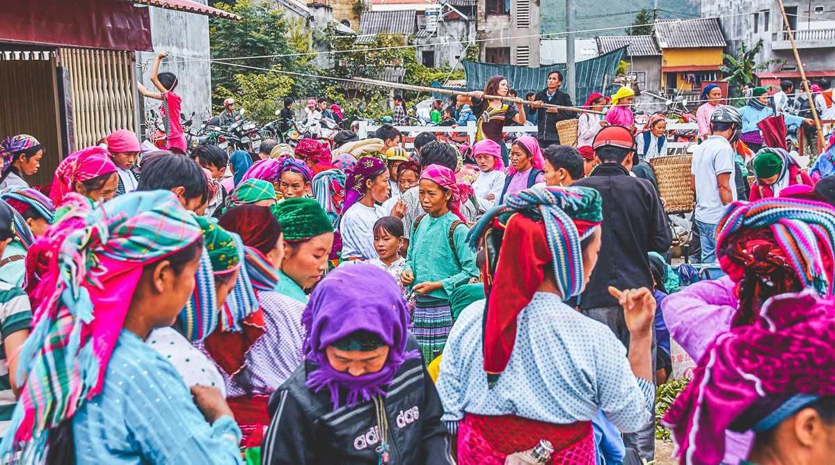 Dong Van markt