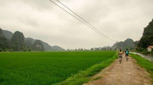 fietsen in Ninh Binh