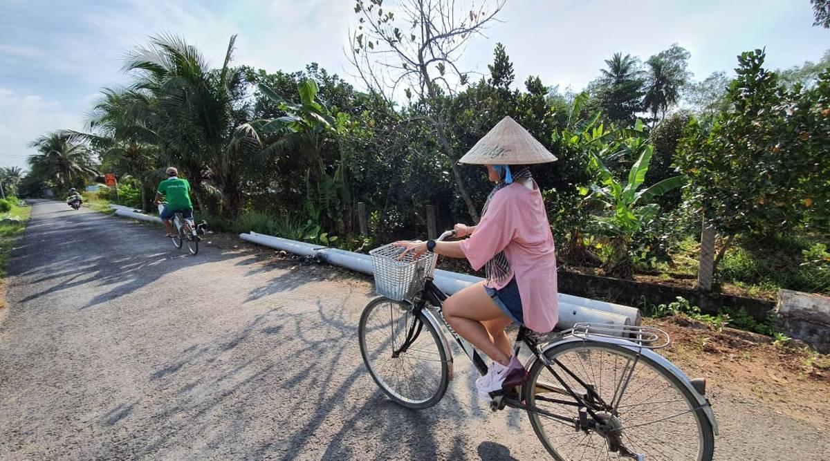fietsen in Mekong Delta Cai Be
