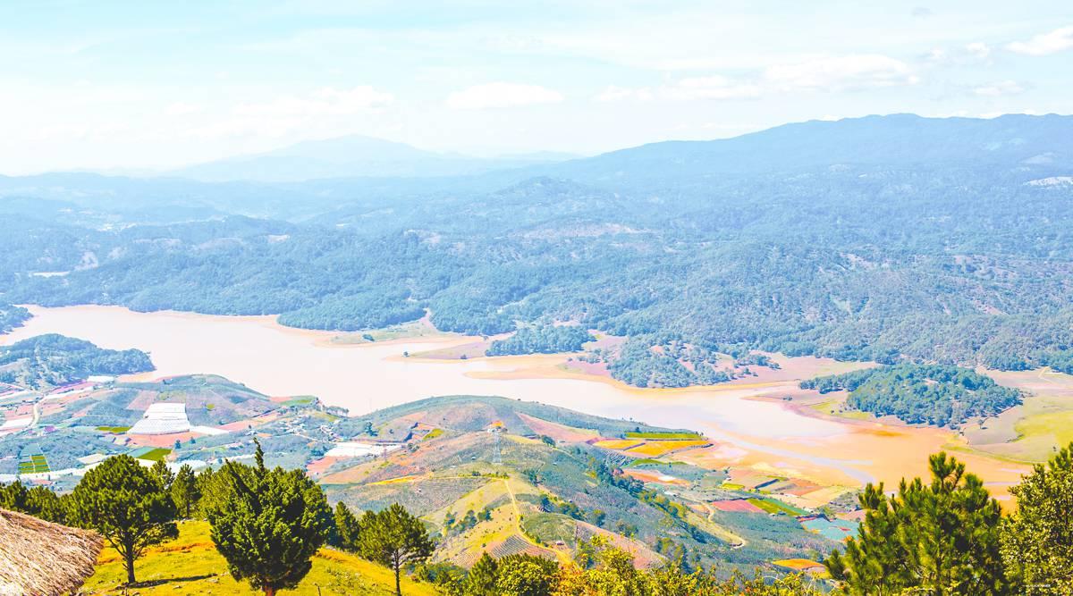 Langbiang berg beklimmen in Dalat
