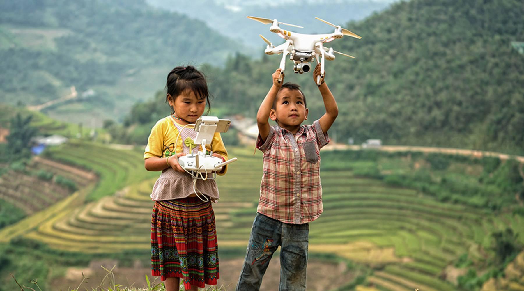 drone vliegen in Vietnam