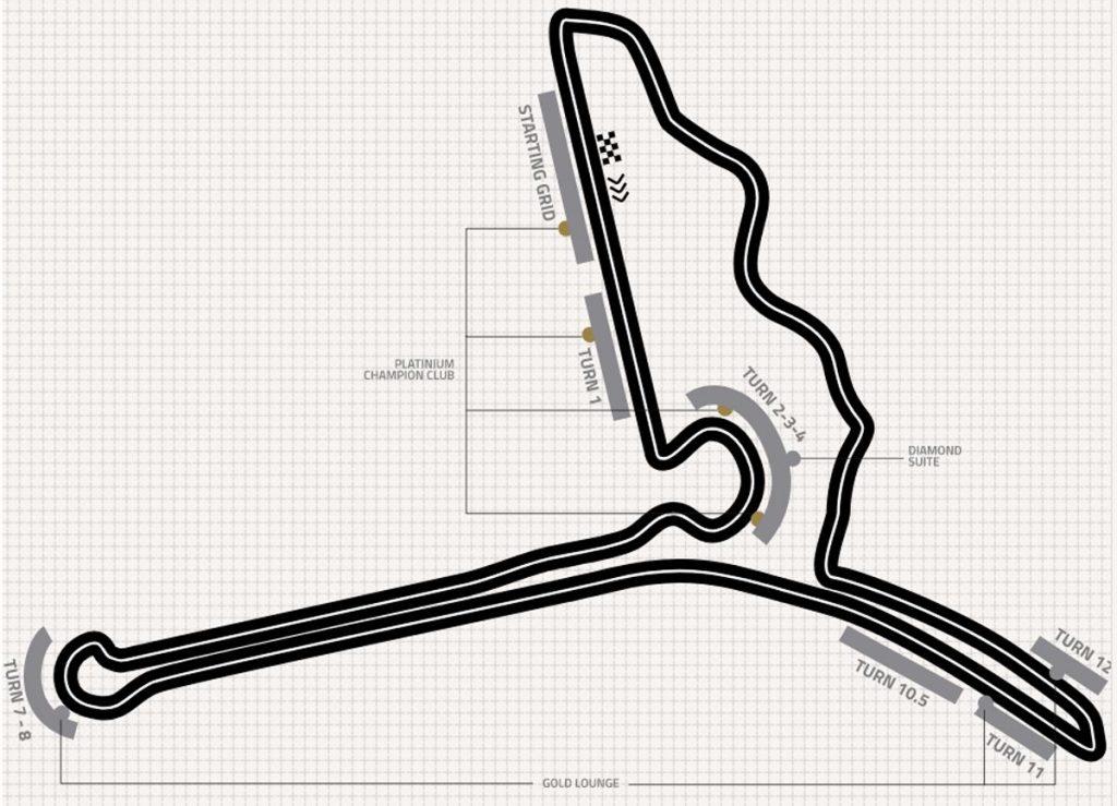 Hanoi circuit plattegrond
