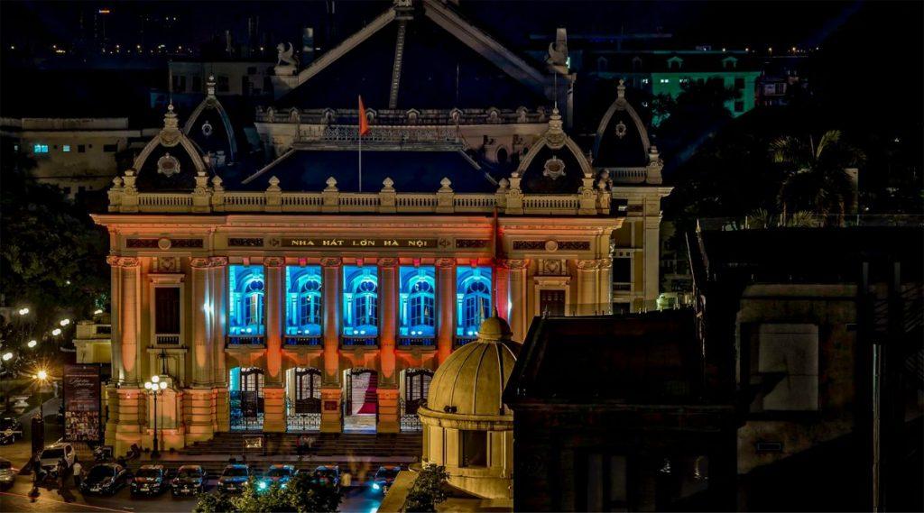 Hanoi Opera House 's nachts