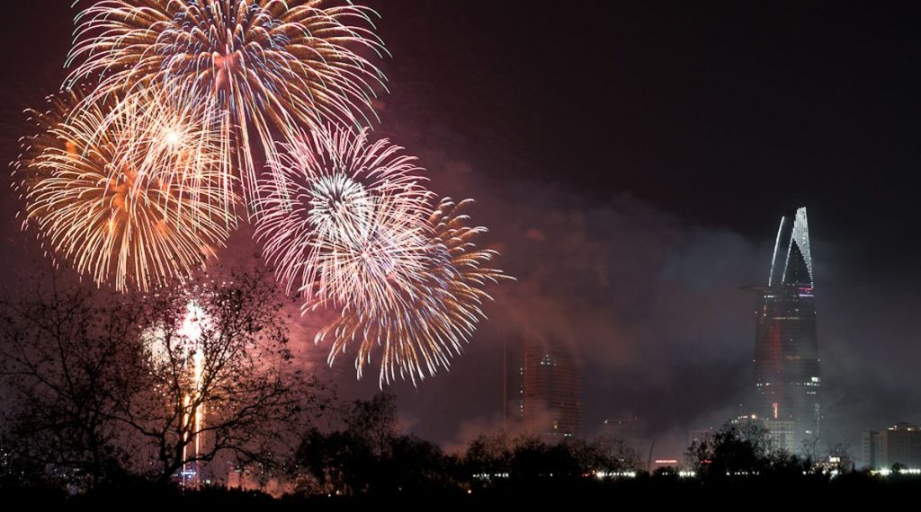 Ho Chi Minh City vuurwerk