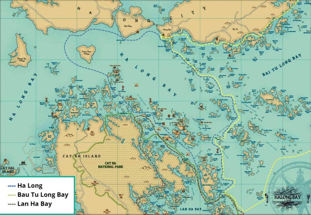 Kaart Halong bay
