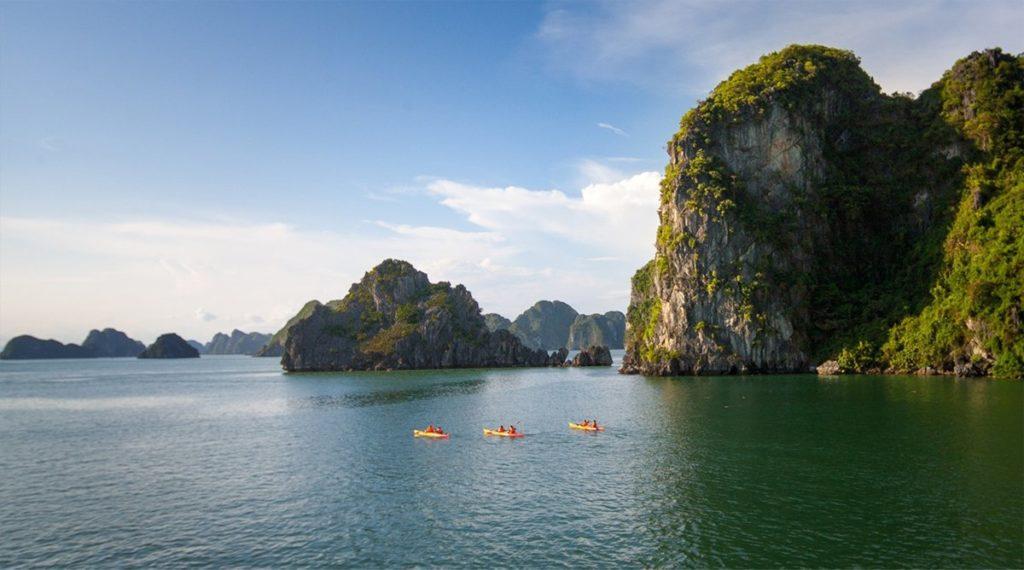 kajakken Halong Bay