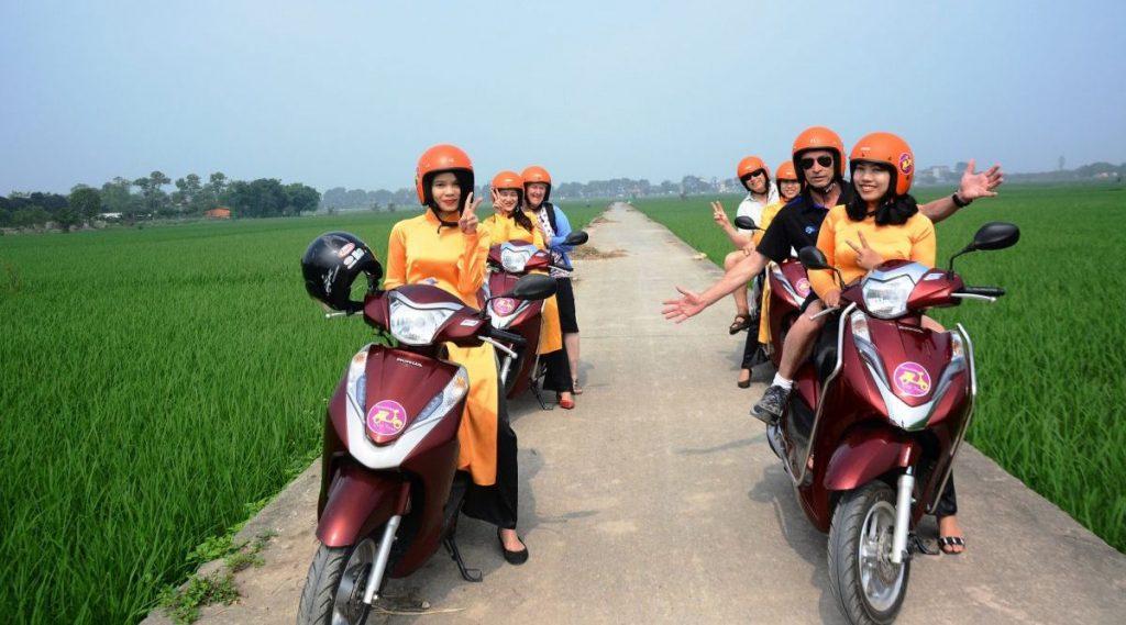 motor tour in Hanoi