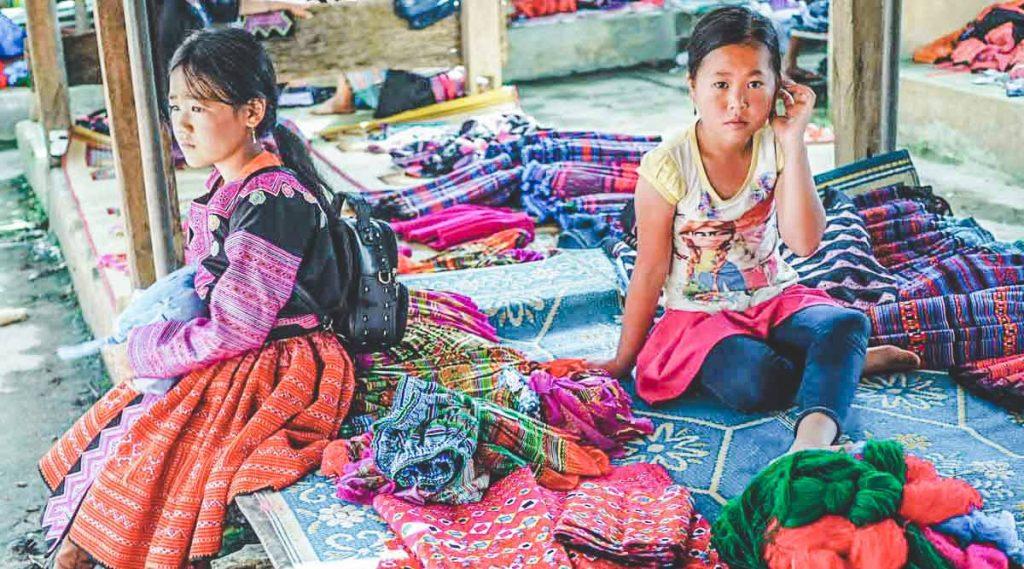 Pa Co markt in Mai Chau