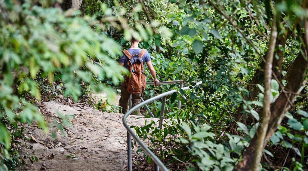 wandelen in Thung Nham Bird Park