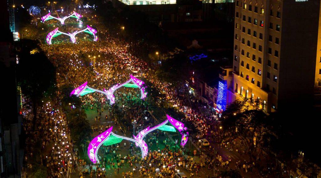 Nieuwjaar in Ho Chi Minh City