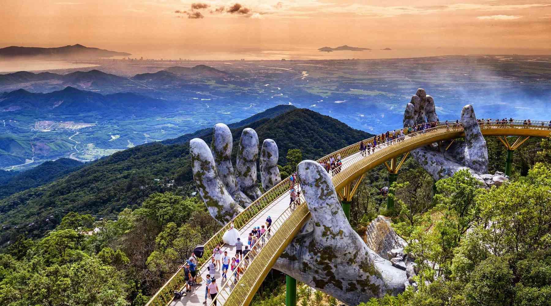Ba Na Hills Gouden Brug in Vietnam
