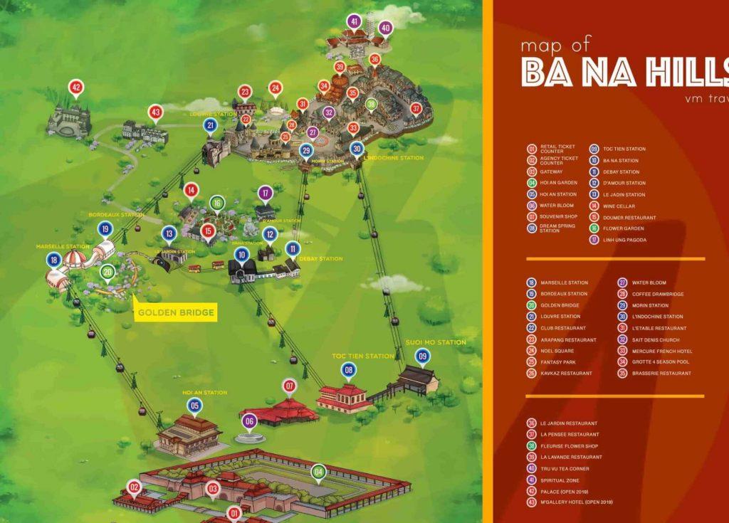 Ba Na Hills kaart