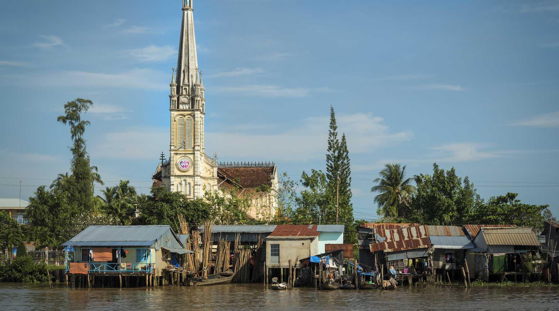 Cai Be in de Mekong Delta