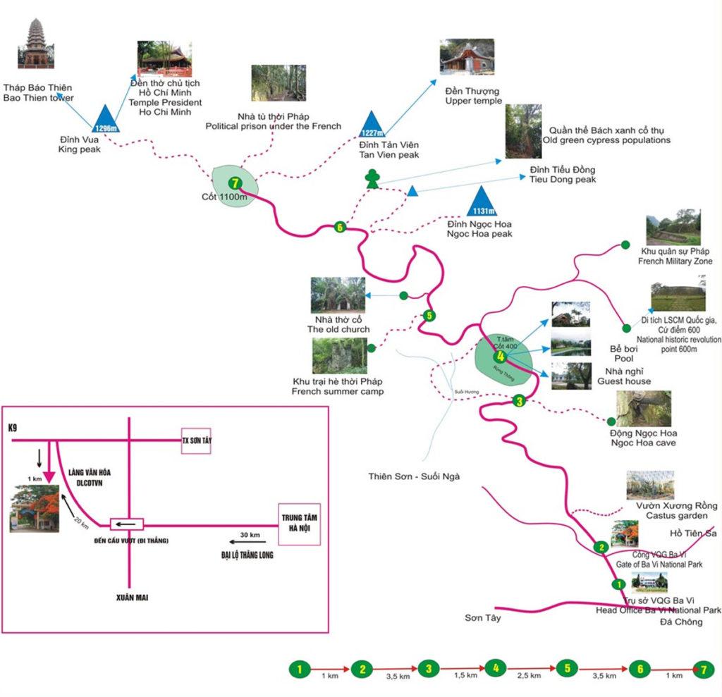 Ba Vi Nationaal Park kaart
