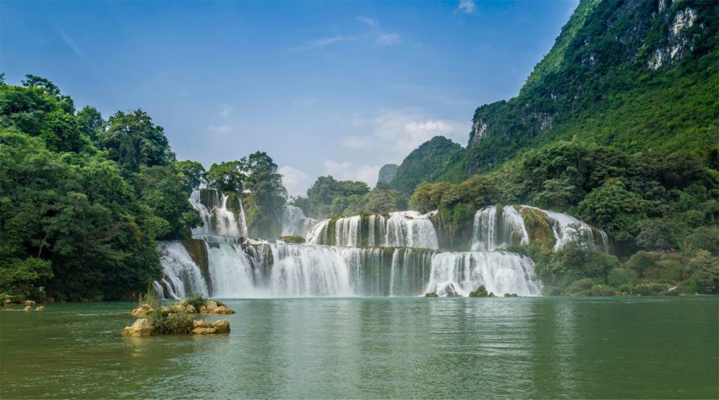 Cao Bang rondreis Ban Gioc waterval