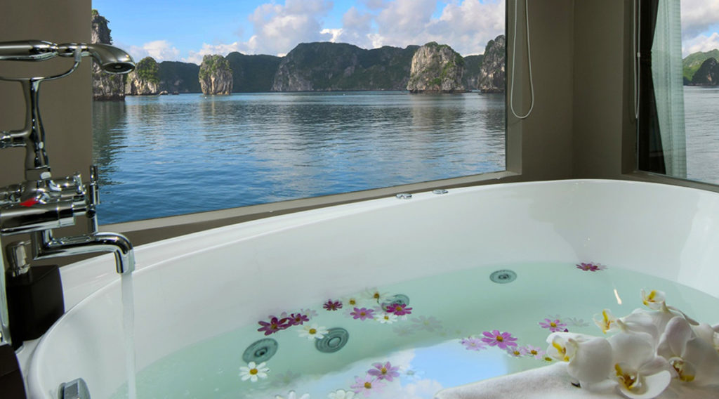 Halong Bay romantische cruise