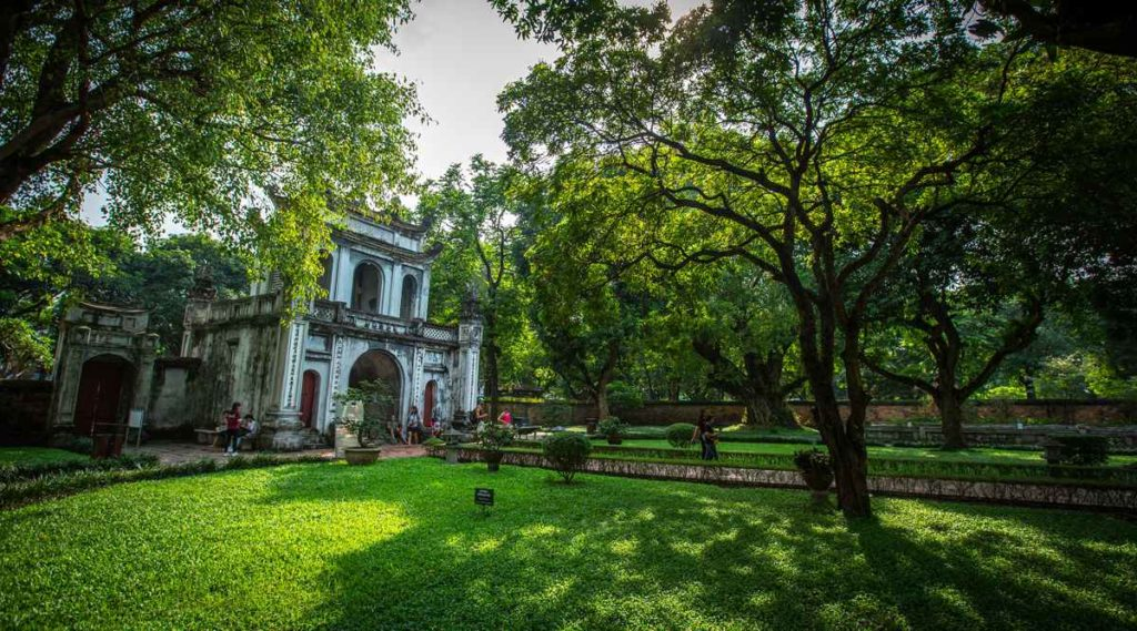 tempel van literatuur in Hanoi