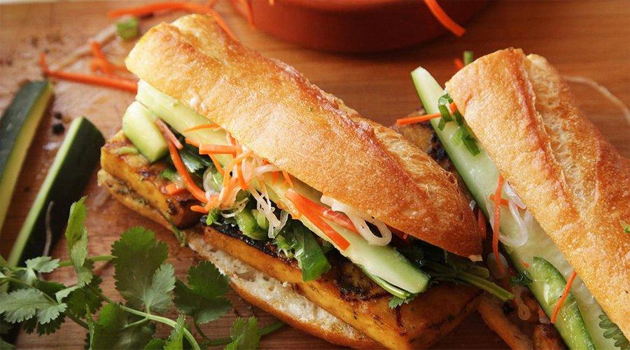 broodje vegetarisch eten Vietnam
