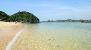 Stranden noord Vietnam