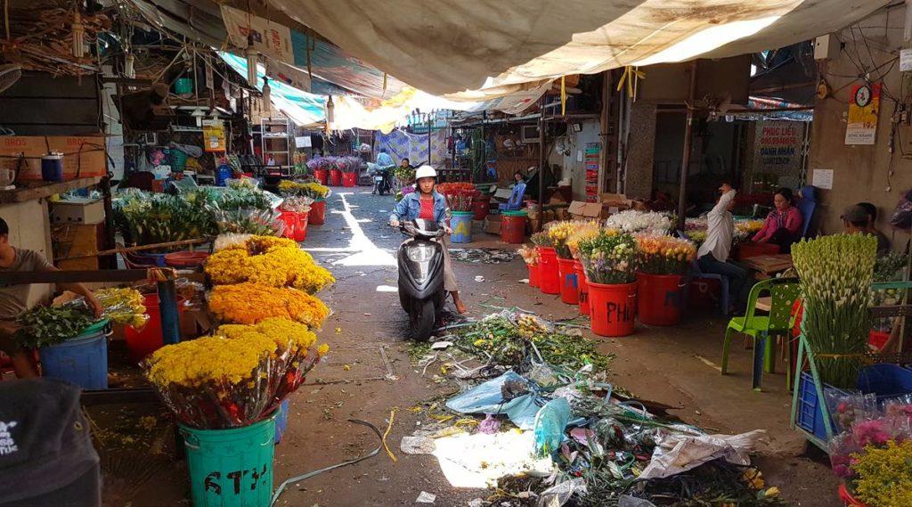 Ho Thi Ky bloemenmarkt