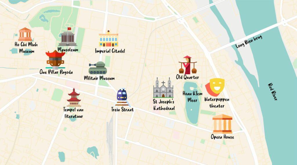 kaart Hanoi