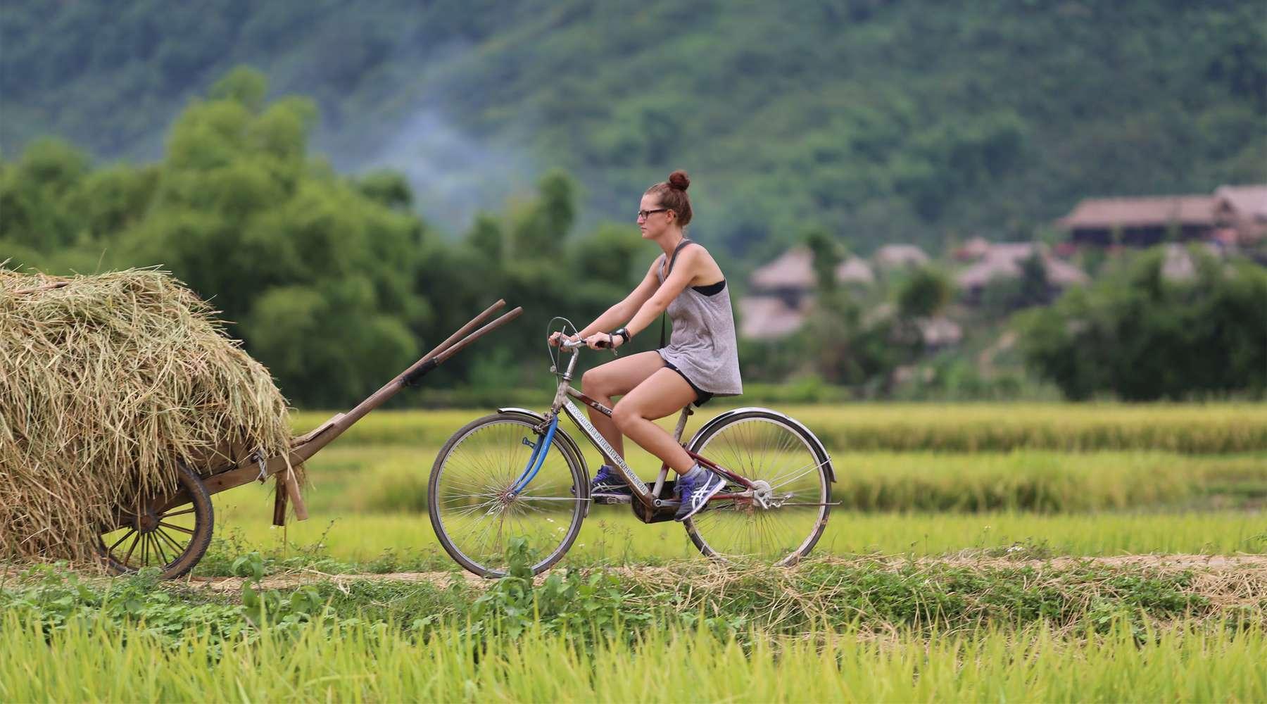 fietsen in Mai Chau