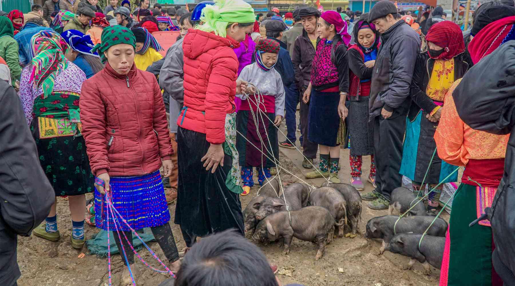 Ha Giang markt