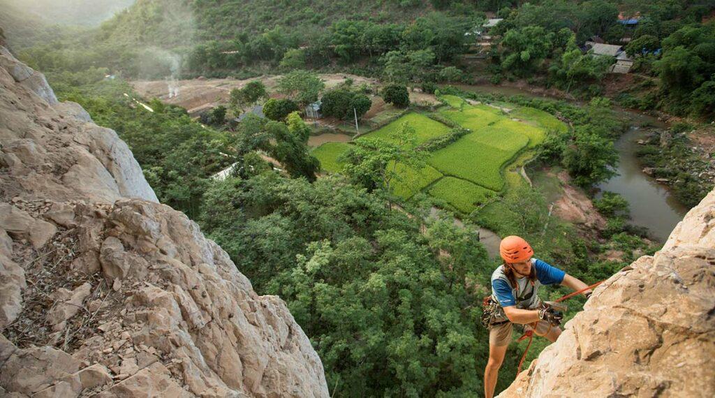 Mai Chau klimmen