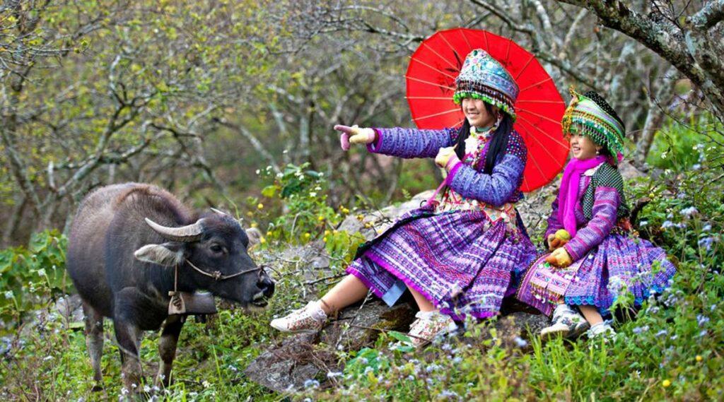 Moc Chau etnische minderheid