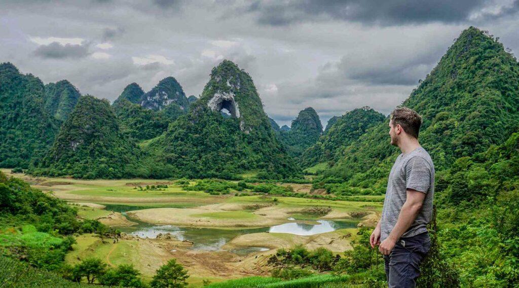 Nui Thung berg in Cao Bang