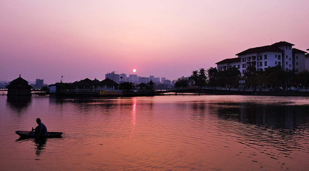 West Lake zonsondergang